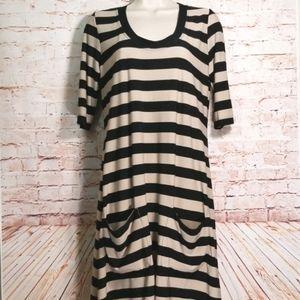 Ronni Nicole | Striped Dress w/pockets